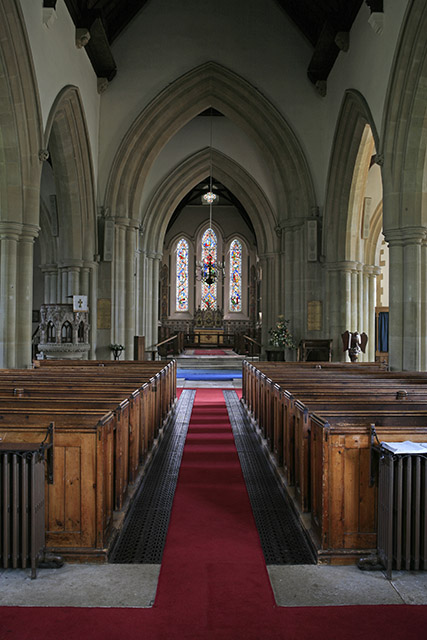 Interior of Church of St Peter & St Paul, Ringwood