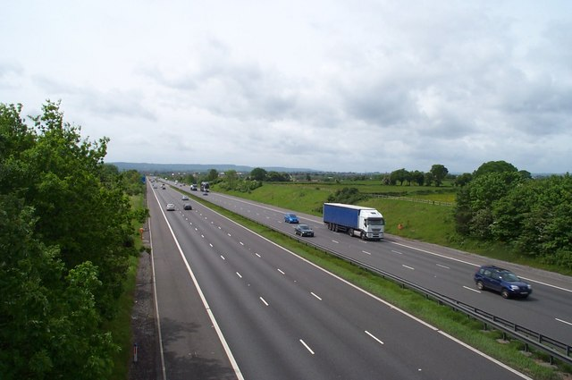 M5 motorway near Creech St. Michael
