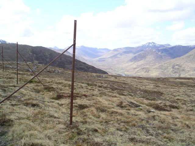 Fence post, Carn Glas lochdarach