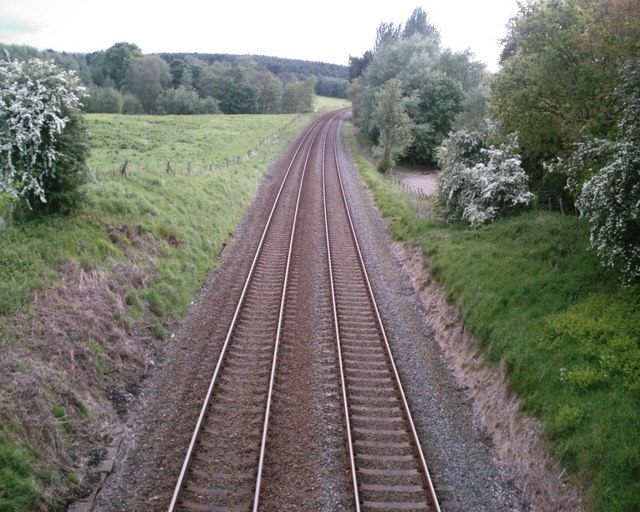 Railway through the Cheshire countryside