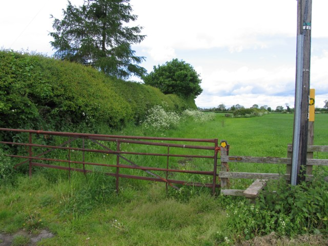 Stile, gate and field