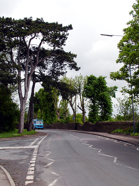 Looking along Rodway Hill Road