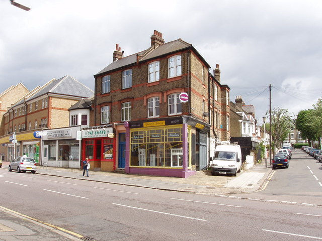 Horn Lane shops, by Brougham Road, Acton