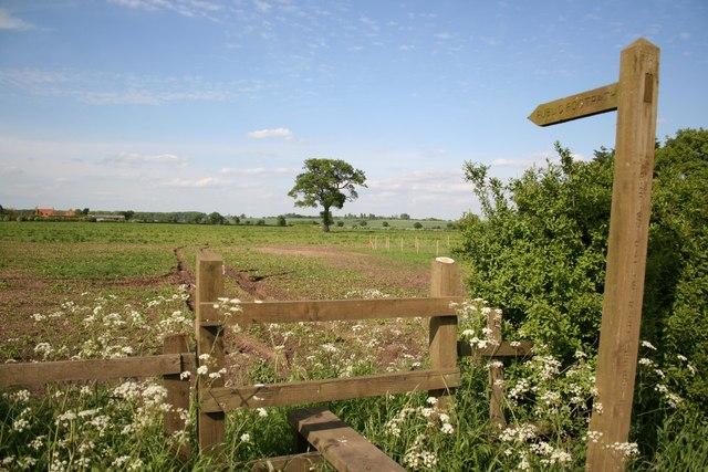 Footpath to Brills Hill