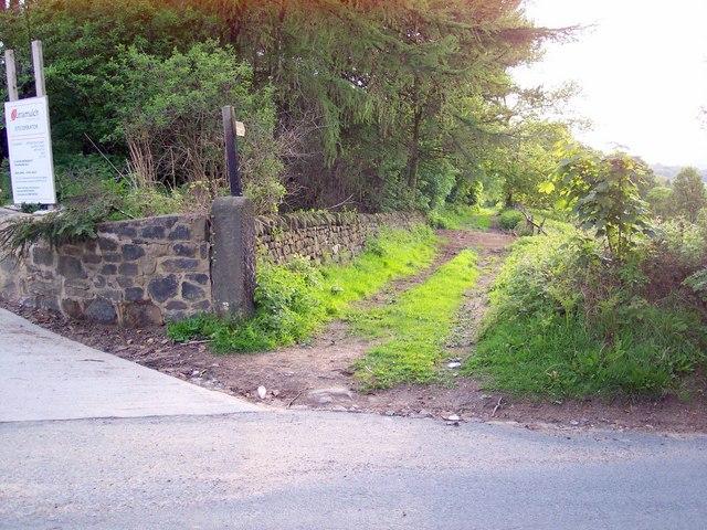 Bridleway near Arthington Quarry