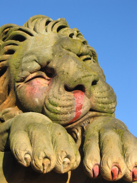 A sleeping lion of Hamilton Mausoleum.