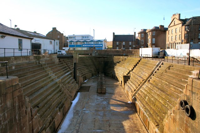 Graving dock. Peterhead North Harbour. 1855