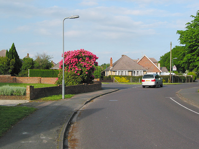 Junction of Priestlands Road and Whitaker Crescent, Lymington