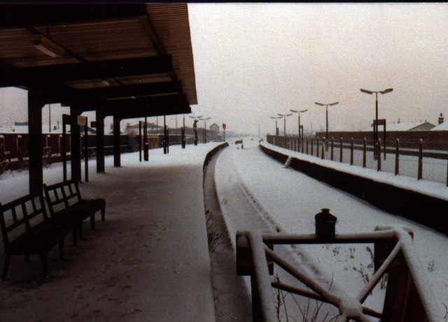 Rochdale Station in the snow