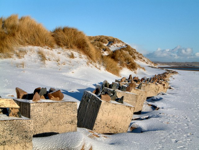 Coastal sand dunes and tank traps