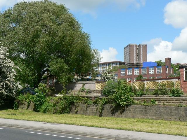 Kirkstall Road and Sacred Heart School, Kirkstall, Leeds