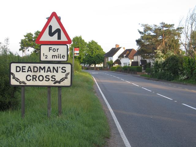 Entrance to Deadman's Cross, Haynes, Beds