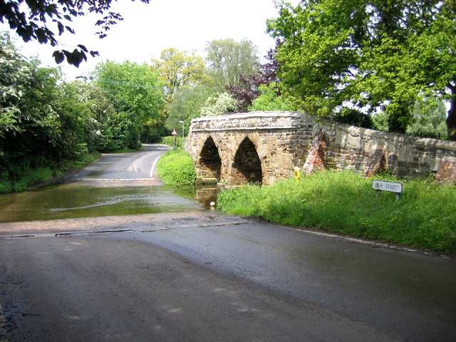 Ford and bridge, Sutton, Beds
