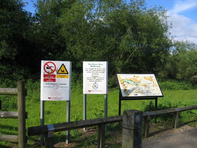 River Rea Walkway signs