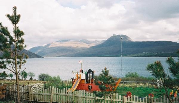 Play area of Scoraig Primary School