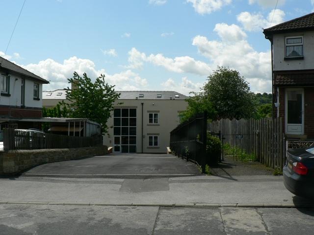 Rear entrance to Burley Wood Works, Kirkstall, Leeds