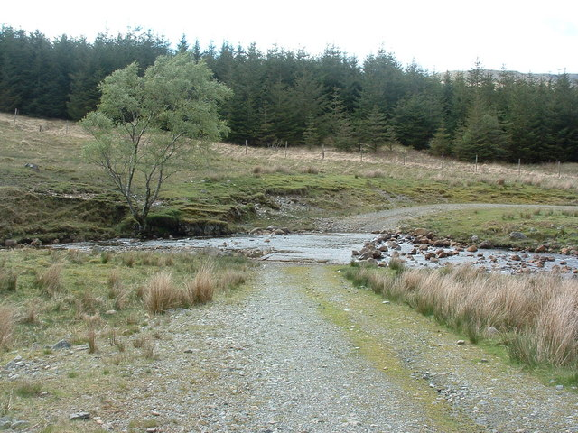 Ford below cottage at Tomslibhe