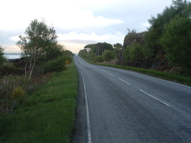 The A894 heading south.
