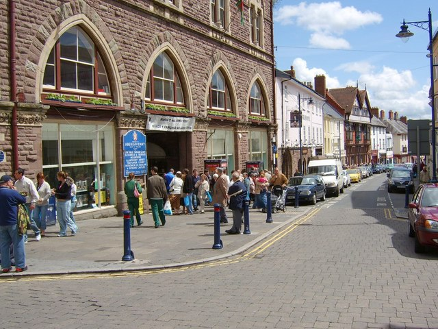Market day in Abergavenny