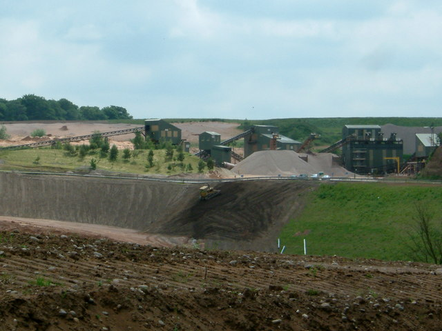 Sand and Gravel pit near Hints, Staffs.