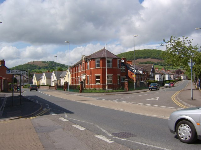 The A40 in Abergavenny