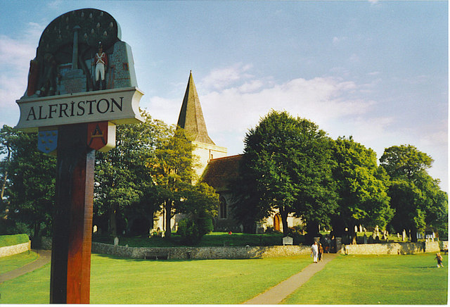The Other Side of Alfriston's Village Sign.