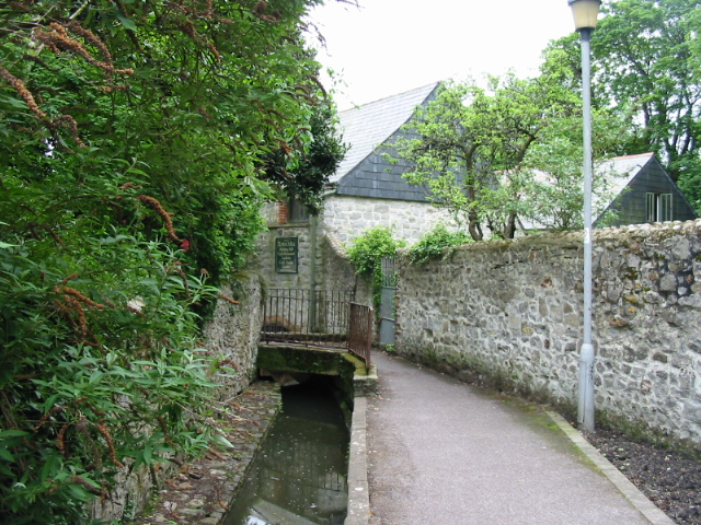 The Town Mill and mill leat, Lyme Regis