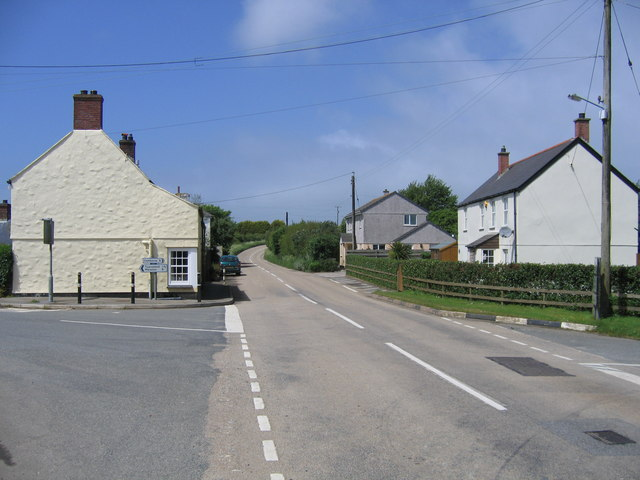 Fraddam Village looking west