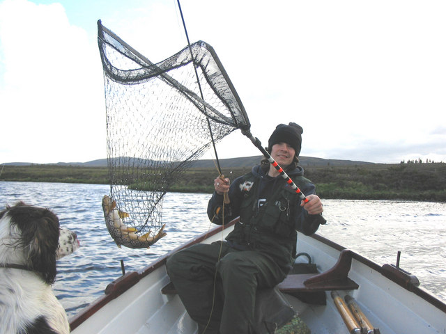 Brown trout fishing on Lochindorb.