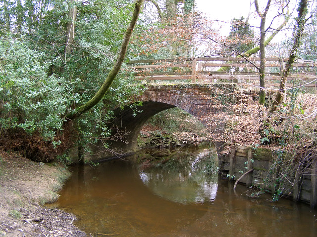 Old Roman Bridge over Highland Water, New Forest