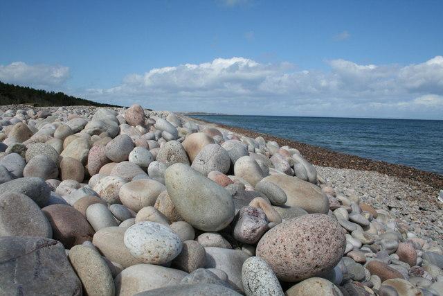 Boar's Head Beach looking towards Lossiemouth