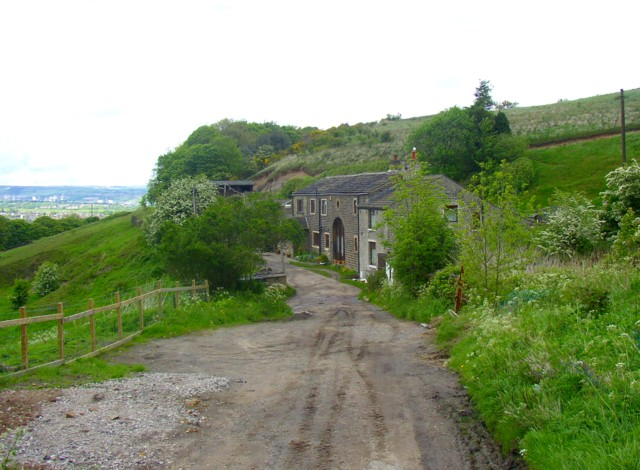 Converted farmhouse and barn, Jagger Green Lane, Old Lindley