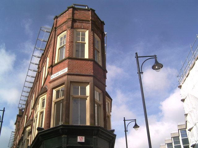 Axis of Rutland Street and Halford Street, Leicester
