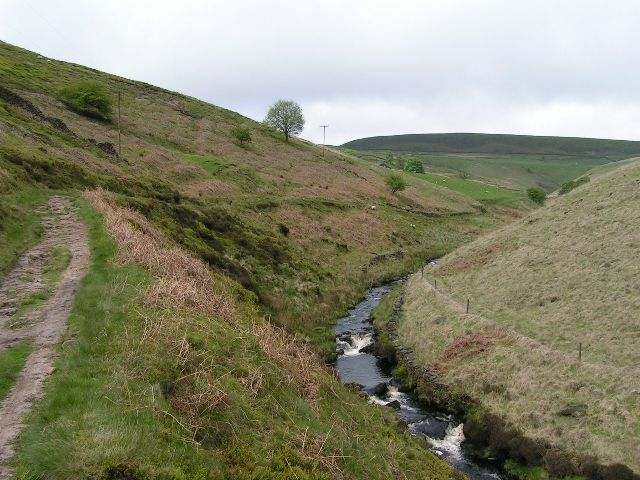 River Dane above Three Shire Heads
