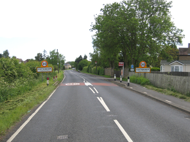 Entrance to Cottenham, Cambs
