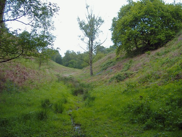 Hidden valley near The Royalty, Frodsham