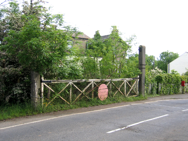 Level crossing gate, Oakington, Cambs
