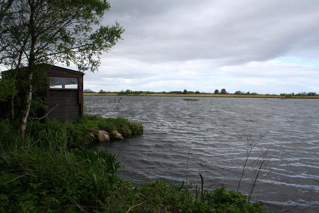 Bird Watchers Hut on Loch Spynie.