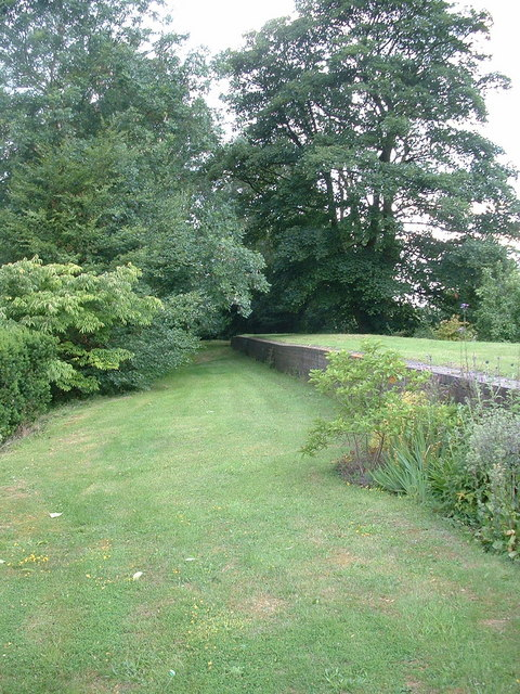The trackbed and platform of South Willingham Station