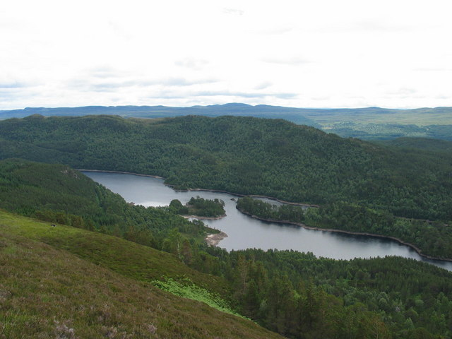 Looking down on Loch Beinn a' Mheadhoin from Meall Beag