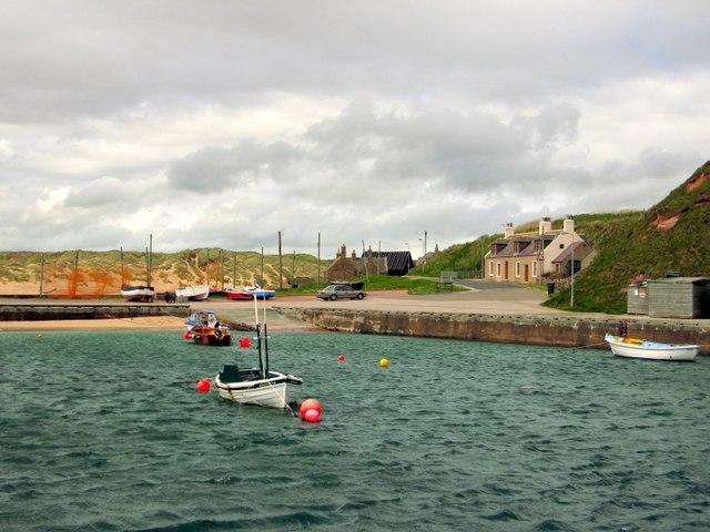 The harbour of Port Errol, Cruden Bay