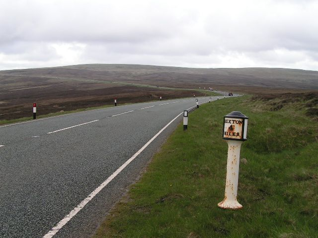 Milepost, A537 Cat and Fiddle Road
