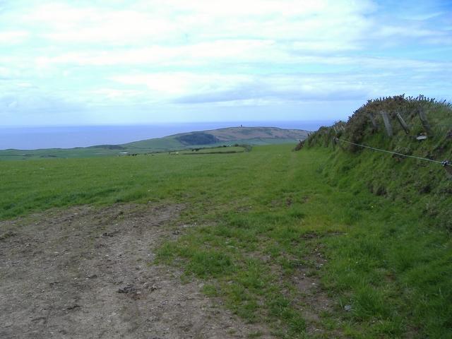 Looking towards Corrins Hill
