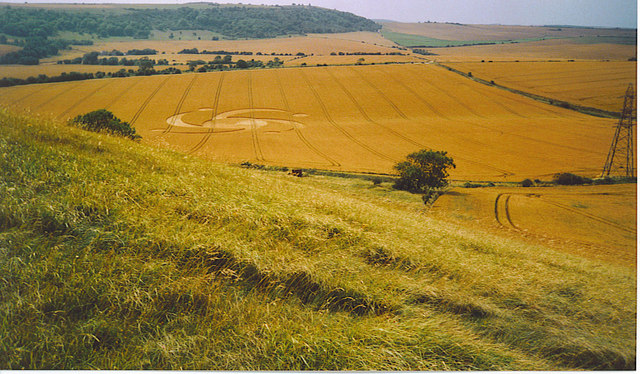 Crop Circle below Steep Down.