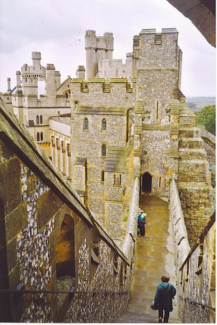 Arundel Castle, from The Keep.