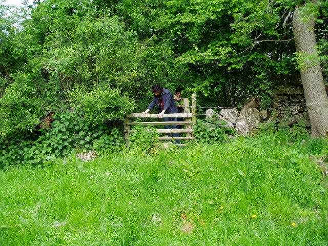 Stile near Bron Eyarth Farm
