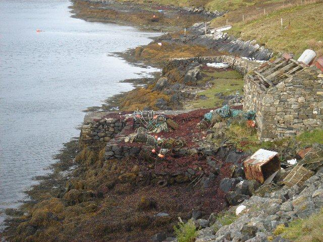Old jetty in Bagh Mor, Grimsay