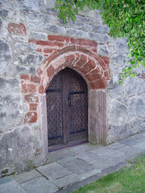 Tower door at St Mwrog & St Mary's Church