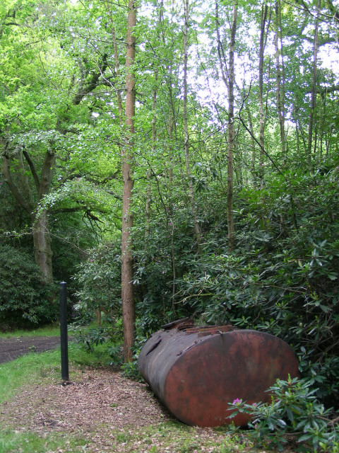 Tank at a byway junction, Hamptworth Estate
