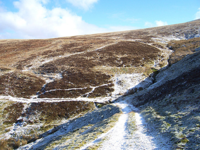 The Southern Upland Way below Stake Hill